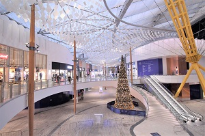 BASE STRUCTURES' SUSPENDED CEILING BRINGS LIFE TO O2 RETAIL DEVELOPMENT